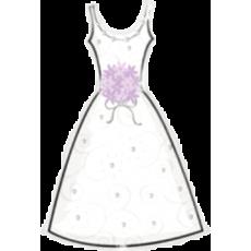 Balón Svadobné šaty s kyticou