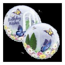Balón Motýle Birthday Butterflies QB