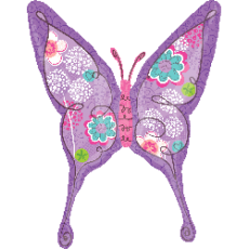 Balón Motýľ kvetinový US