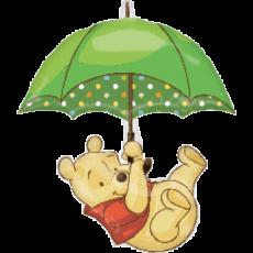 Balónik Pu s dáždnikom US