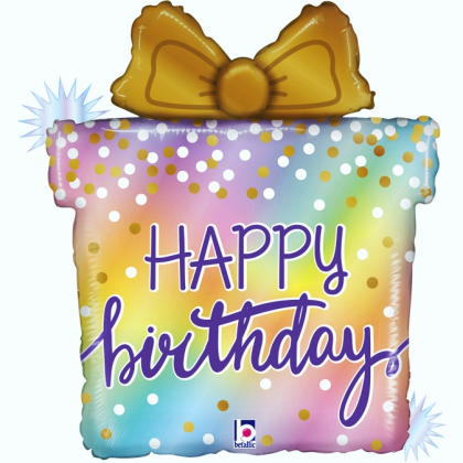 Balón Darček Happy Birthday