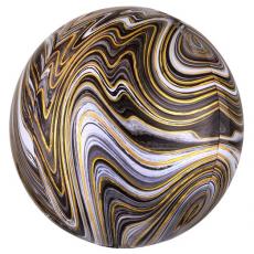 Balón Guľa mramor zlato-čierna