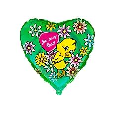 Balón Kačiatko zelené - kvety