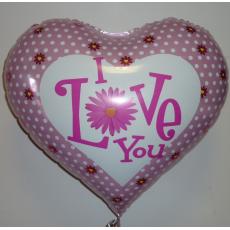 Balón I Love You s bodkami