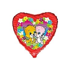 Balónik Mačky v kvetoch