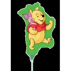 Balónik Macko Pu s Pigletom US zel.