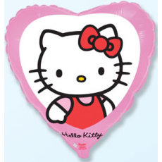 Balón Hello Kitty v Srdiečku