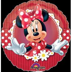 Balón Minnie červená s margarétkami US