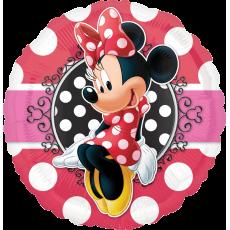 Balón Minnie ružová s bodkami US