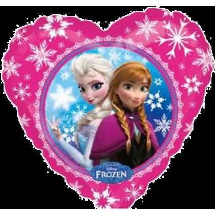 Balón Frozen Srdiečko ružové US