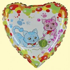 Balón Mačky s klbkom