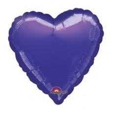 Balón Srdce 45 cm Tmavo Fialové