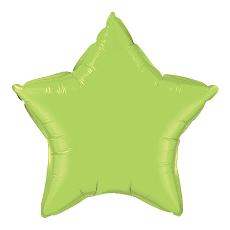 Balón Hviezda Limetková Zelená