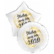 Balón Šťastný Nový Rok 2020 kruh 1