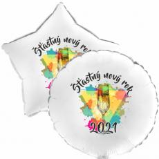 Balón Šťastný Nový Rok 2021