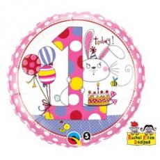 Balón číslo RE 1 Bunny Polka Dots