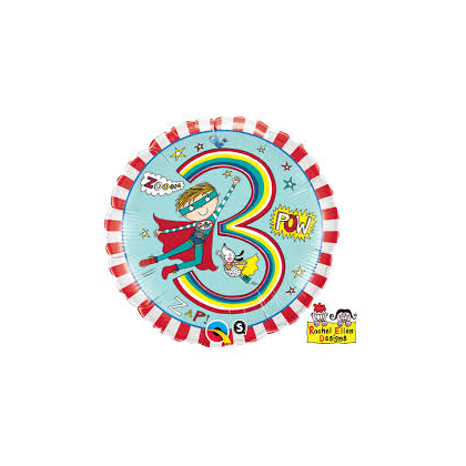 Balón číslo 3 narodeniny Super hrdina