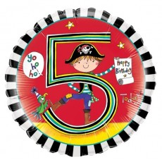 Balón číslo 5 narodeniny Pirat