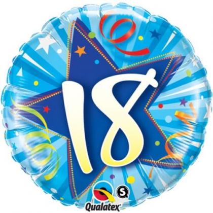 Balón 18 modrý Shining Star Bright blue