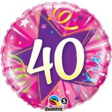 Balón 40 ružový Shining Star Bright pink