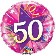 Balón 50 ružový Shining Star Bright pink