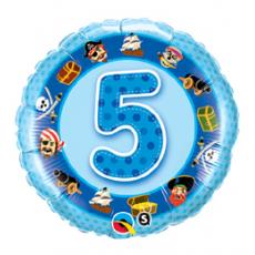 Balón číslo 5 Pirat modrý