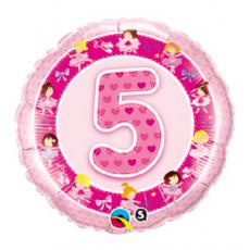 Balón číslo 5 Baletka ružová
