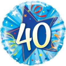 Balón narodeninový 40 modry