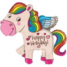 Balón Jednorožec Happy Bday 45´´