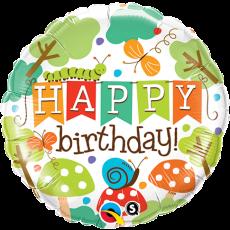 Balón Happy Birthday Záhrada / BDay Banner Garden