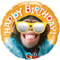 Balón Opica Happy Birthday / BDay Smilin Chimp