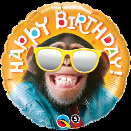 Balón Opica Happy Birthday / BDay Smilin Chimp