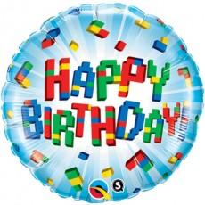 Balón Lego Happy Birthday / BDay Exploding Blocks