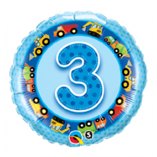 Balón číslo 3 auta