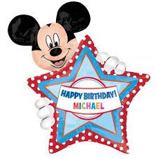 Balón Mickey Mouse US s písmenkami