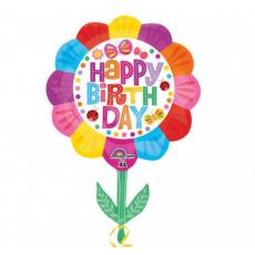 Balón Kvetinka Happy Birthday US