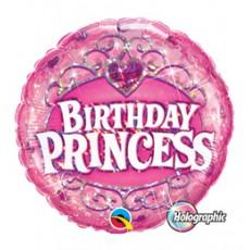 Balón Princezná Happy Birthday