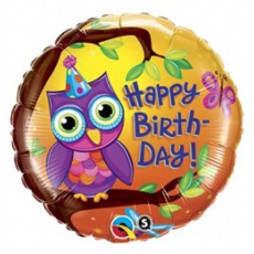 Balón Sova Happy Birthday / BDay Owl