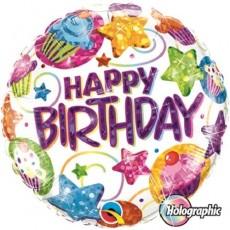 Balón Happy Birthday / BDay Dazzling Sweets