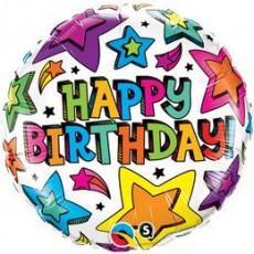 Balón Happy Birthday / BDay Multiple Stars