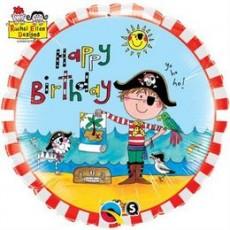 Balón Pirát Happy Birthday / BDay RE Pirate