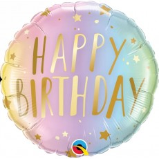Balón Q18 Birthday Pastel Ombre & Stars