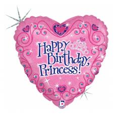 Balón Happy BDay Princess