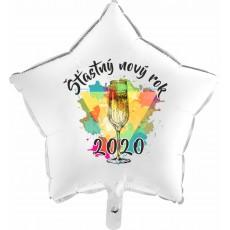 Balón Šťastný Nový Rok 2020 hviezda