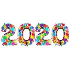 Novoročné číslo malé 2020 Balónikové