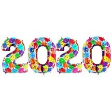 Novoročné číslo 2020 Balónové 100 cm