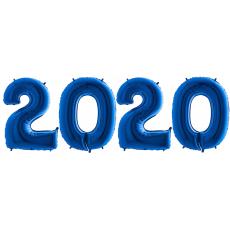 Novoročné číslo 2020 Modré 100 cm