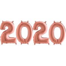 Novoročné číslo malé 2020 Rose Gold