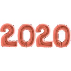 Novoročné číslo 2020 Rose Gold 100 cm
