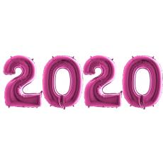 Novoročné číslo 2020 Ružové 100 cm